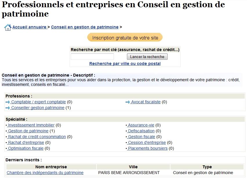 Annuaire d 39 entreprises et de services financiers - Ouvrir un cabinet de gestion de patrimoine ...