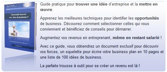 Livre trouver une idée d'entreprise