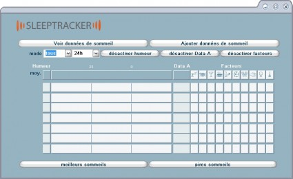 Le logiciel de gestion des données
