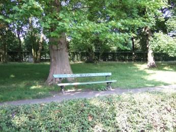 Voici le banc d'où j'ai écris !