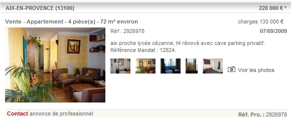 annonce immobilier aix