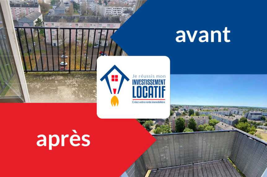 La transformation avantaprès de la colocation de Laurent en Picardie.