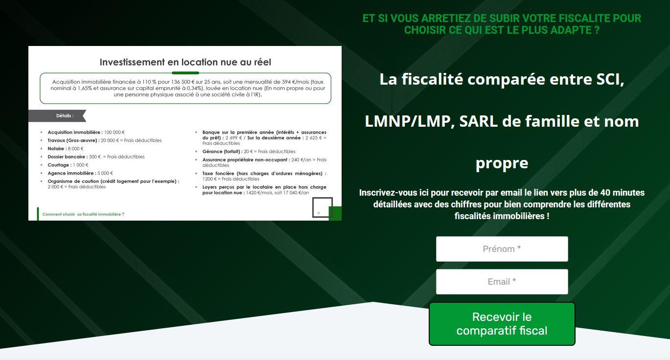 Comparatif fiscal entre la SCI, le LMNP/LMP, la SARL de famille et investir en nom propre.