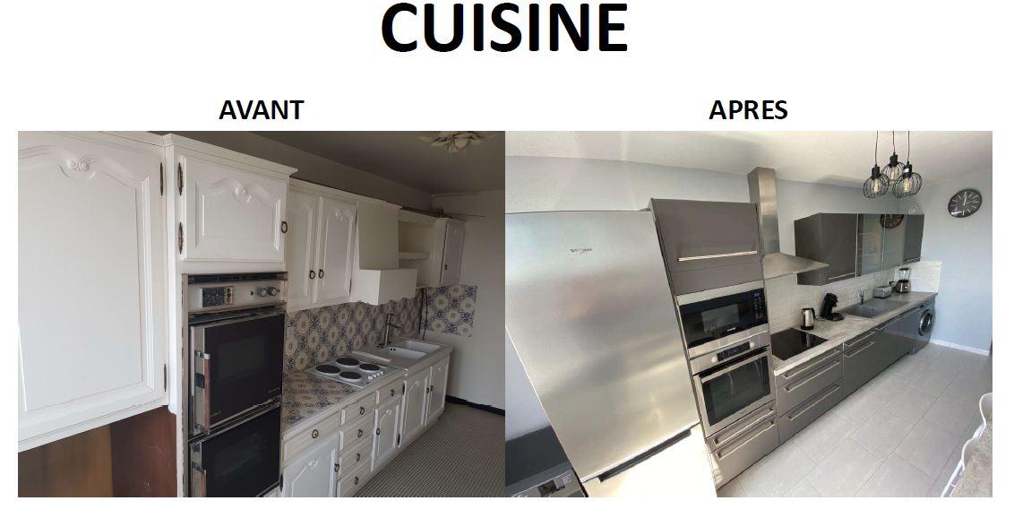 La cuisine équipée de la colocation de Laurent.