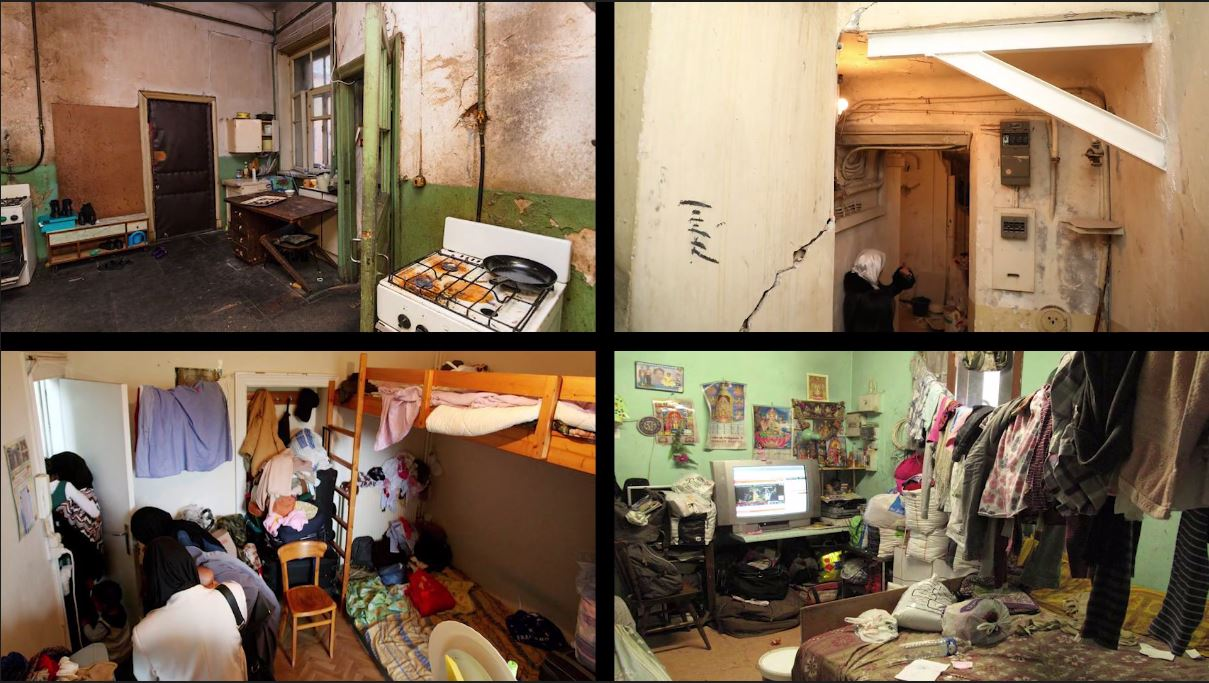 Exemples d'appartements loués par des marchands de sommeil