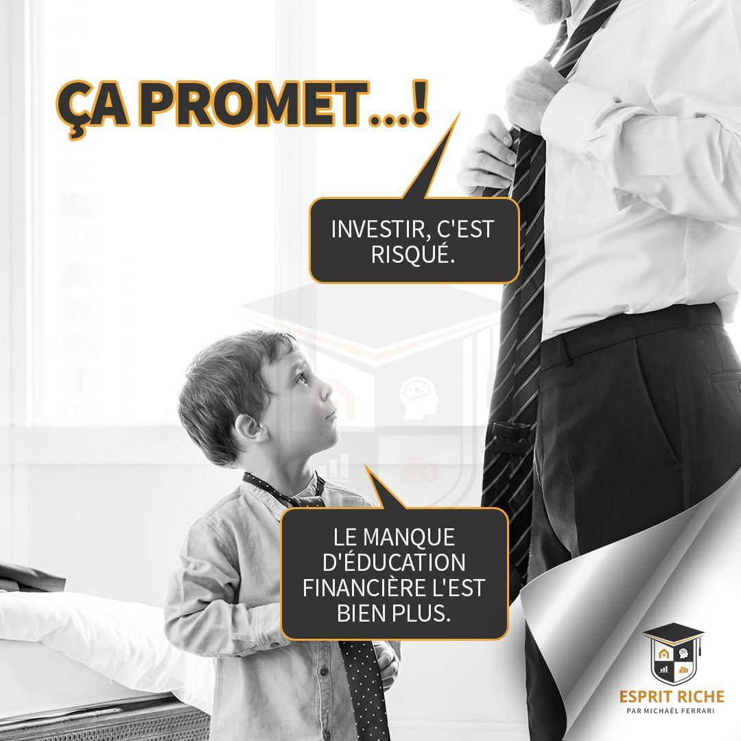 Investir est-il risqué ? Ou est-ce plus risqué de manquer d'éducation financière ?