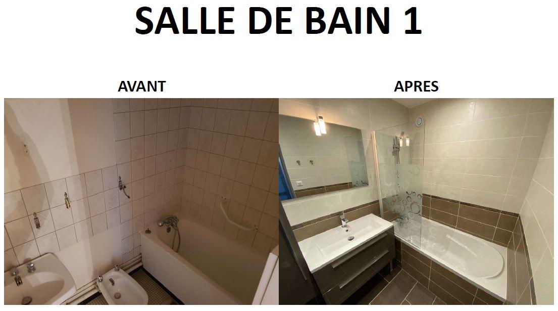 Salle de bain rénovée dans la colocation de Laurent